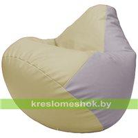 Бескаркасное кресло-мешок Груша Г2.3-1025 светло-бежевый, чиреневый