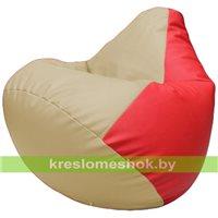 Бескаркасное кресло-мешок Груша Г2.3-1209 бежевый, красный