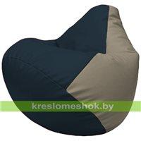 Бескаркасное кресло-мешок Груша Г2.3-1502 синий, светло-серый