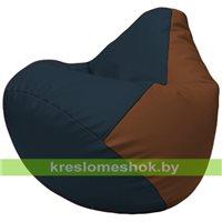 Бескаркасное кресло-мешок Груша Г2.3-1507 синий, коричневый