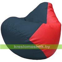 Бескаркасное кресло-мешок Груша Г2.3-1509 синий, красный