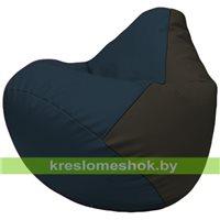 Бескаркасное кресло-мешок Груша Г2.3-1516 синий, чёрный