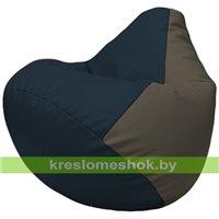 Бескаркасное кресло-мешок Груша Г2.3-1517 синий, серый
