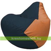 Бескаркасное кресло-мешок Груша Г2.3-1520 синий, оранжевый