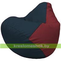 Бескаркасное кресло-мешок Груша Г2.3-1521 синий, бордовый