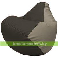 Бескаркасное кресло-мешок Груша Г2.3-1602 чёрный, светло-серый