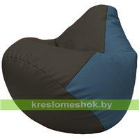Бескаркасное кресло-мешок Груша Г2.3-1603 чёрный, синий
