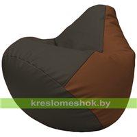 Бескаркасное кресло-мешок Груша Г2.3-1607 чёрный, коричневый