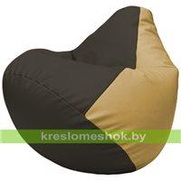 Бескаркасное кресло-мешок Груша Г2.3-1613 чёрный, бежевый