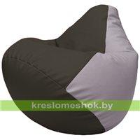 Бескаркасное кресло-мешок Груша Г2.3-1625 чёрный, сиреневый