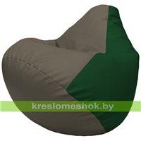 Бескаркасное кресло-мешок Груша Г2.3-1701 серый, зелёный