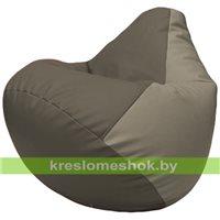 Бескаркасное кресло-мешок Груша Г2.3-1702 серый, светло-серый