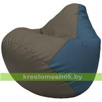 Бескаркасное кресло-мешок Груша Г2.3-1703 серый, синий