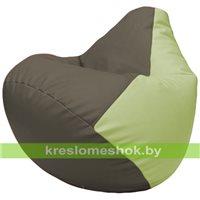 Бескаркасное кресло-мешок Груша Г2.3-1704 серый, светло-салатовый