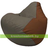 Бескаркасное кресло-мешок Груша Г2.3-1707 серый, коричневый