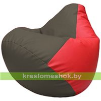 Бескаркасное кресло-мешок Груша Г2.3-1709 серый, красный