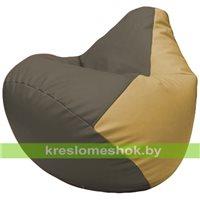 Бескаркасное кресло-мешок Груша Г2.3-1713 серый, бежевый