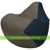 Бескаркасное кресло-мешок Груша Г2.3-1715 серый, синий