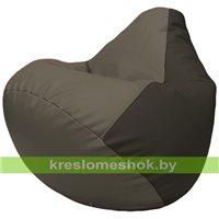 Бескаркасное кресло-мешок Груша Г2.3-1716 серый, чёрный