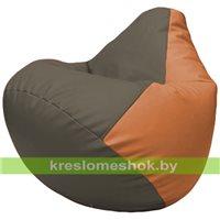 Бескаркасное кресло-мешок Груша Г2.3-1720 серый, оранжевый