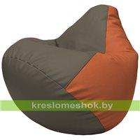 Бескаркасное кресло-мешок Груша Г2.3-1723 серый, оранжевый