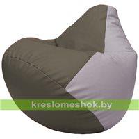 Бескаркасное кресло-мешок Груша Г2.3-1725 серый, сиреневый