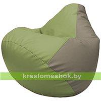 Бескаркасное кресло-мешок Груша Г2.3-1902 оливковый, светло-серый