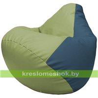Бескаркасное кресло-мешок Груша Г2.3-1903 оливковый, синий