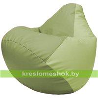 Бескаркасное кресло-мешок Груша Г2.3-1904 оливковый, светло-салатовый