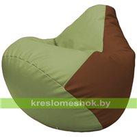 Бескаркасное кресло-мешок Груша Г2.3-1907 оливковый, коричневый