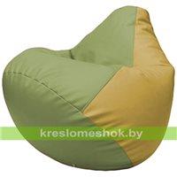 Бескаркасное кресло-мешок Груша Г2.3-1908 оливковый, охра
