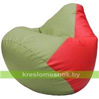 Бескаркасное кресло-мешок Груша Г2.3-1909 оливковый, красный