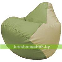 Бескаркасное кресло-мешок Груша Г2.3-1910 оливковыйы, светло-бежевый