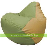 Бескаркасное кресло-мешок Груша Г2.3-1913 оливковый, бежевый