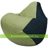 Бескаркасное кресло-мешок Груша Г2.3-1915 оливковый, синий