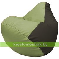 Бескаркасное кресло-мешок Груша Г2.3-1916 оливковый, чёрный