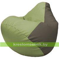 Бескаркасное кресло-мешок Груша Г2.3-1917 оливковый, серый