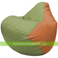 Бескаркасное кресло-мешок Груша Г2.3-1920 оливковый, оранжевый