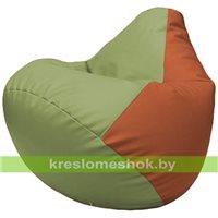 Бескаркасное кресло-мешок Груша Г2.3-1923 оливковый, оранжевый