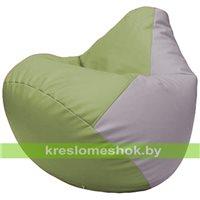 Бескаркасное кресло-мешок Груша Г2.3-1923 оливковый, сиреневый