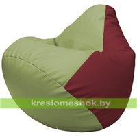 Бескаркасное кресло-мешок Груша Г2.3-1932 оливковый, бордовый