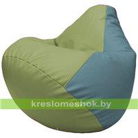 Бескаркасное кресло-мешок Груша Г2.3-1936 оливковый, голубой