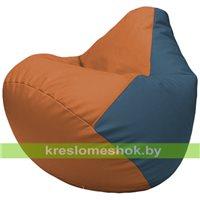 Бескаркасное кресло-мешок Груша Г2.3-2003 оранжевый, синий