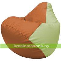 Бескаркасное кресло-мешок Груша Г2.3-2004 оранжевый, светло-салатовый