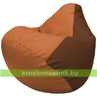 Бескаркасное кресло-мешок Груша Г2.3-2007 оранжевый, коричневый