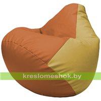 Бескаркасное кресло-мешок Груша Г2.3-2008 оранжевый, охра