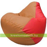 Бескаркасное кресло-мешок Груша Г2.3-2009 оранжевый, красный