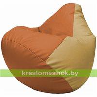 Бескаркасное кресло-мешок Груша Г2.3-2013 оранжевый, бежевый
