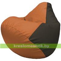 Бескаркасное кресло-мешок Груша Г2.3-2016 оранжевый, чёрный