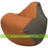 Бескаркасное кресло-мешок Груша Г2.3-2017 оранжевый, серый